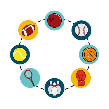 color diferents sport games icon