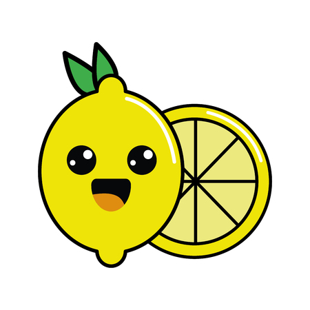 color happy lemon icon