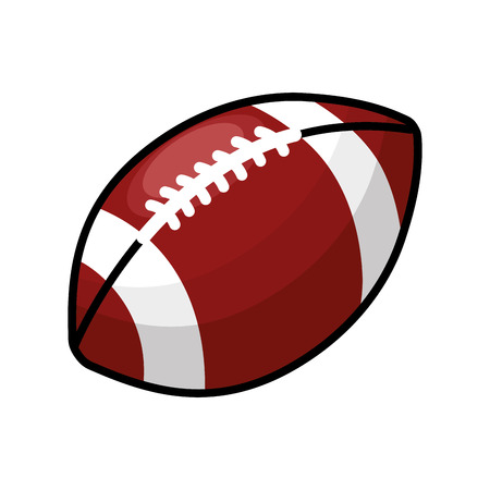 Color american football and his ball icon