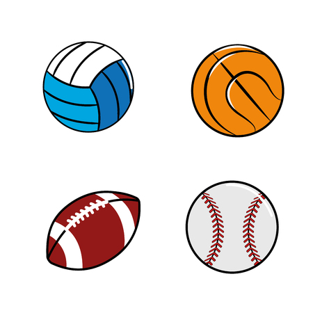 color diferents plays balls icon
