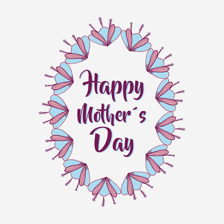 dcor: mother day flowers symbol icon Illustration