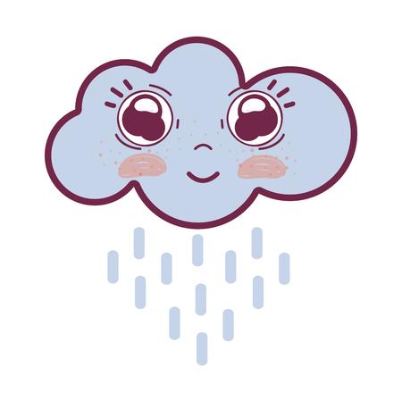 happy cloud raining with big eyes and cheeks