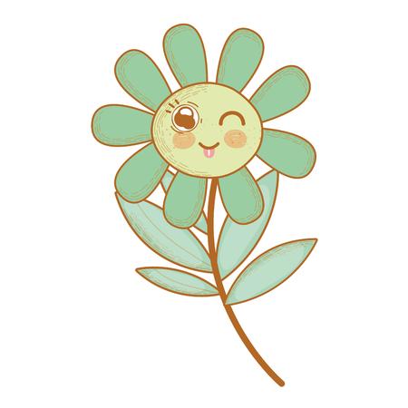 plante fleur drôle avec la langue à l'extérieur