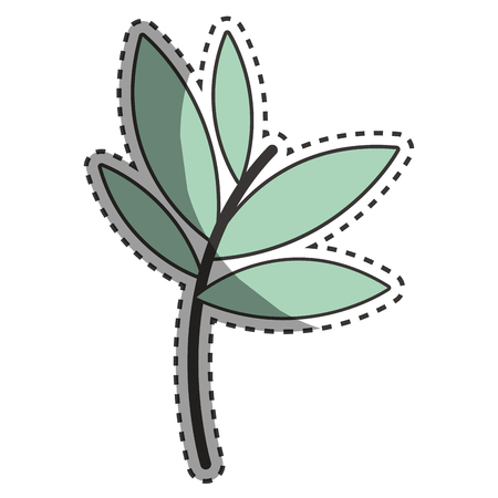 Plants with leaves icon image Illustration