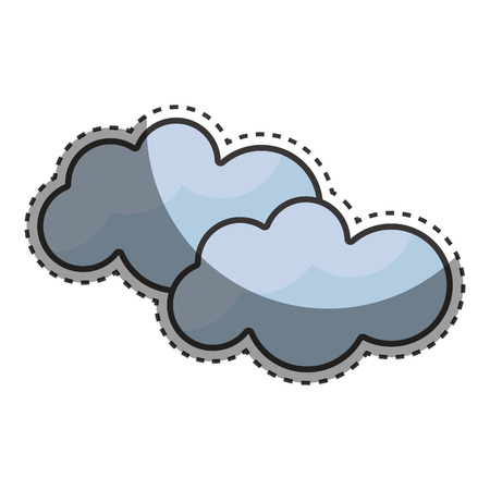 Beauty clouds weather sky Illustration
