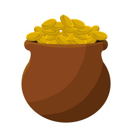 patrick: Many coins inside of flowerpot