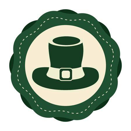 patrick: Green sticker hat accessory st patrick