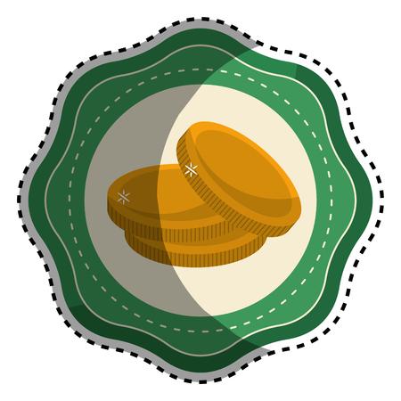 patrick: Sticker gold metal coins