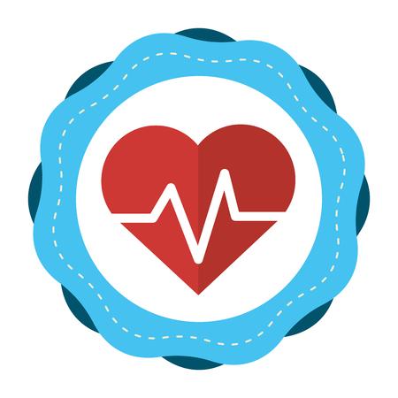 systole: Sticker heartbeat cardio vital sign