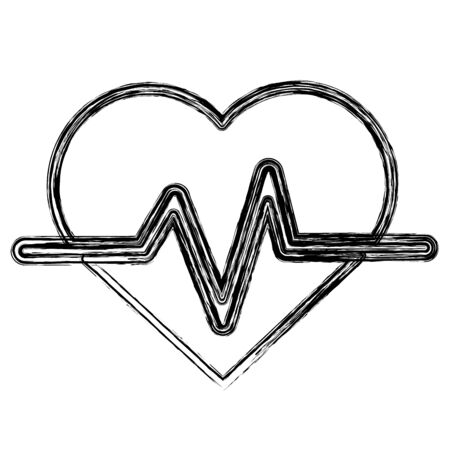 systole: Figure heartbeat cardio vital sign
