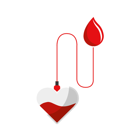 Red drop blood donation transfusion