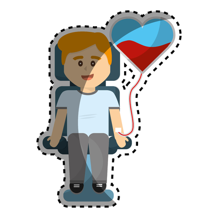 donating: Man donating blood icon Illustration
