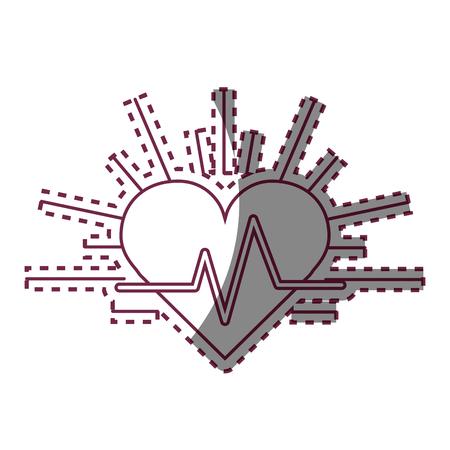 systole: Contour heartbeat cardio vital sign