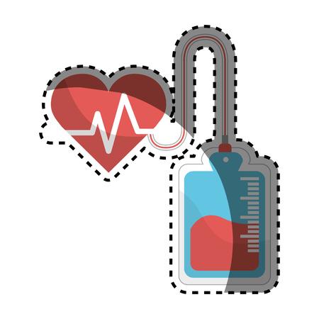 Red blood donation medical transfusion Иллюстрация