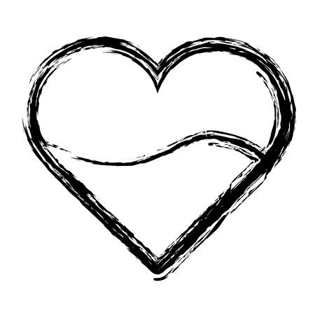 Silhouette heart blood donation transfusion Illustration