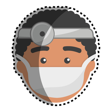 surgeon mask: Doctor with medical mask and reflector