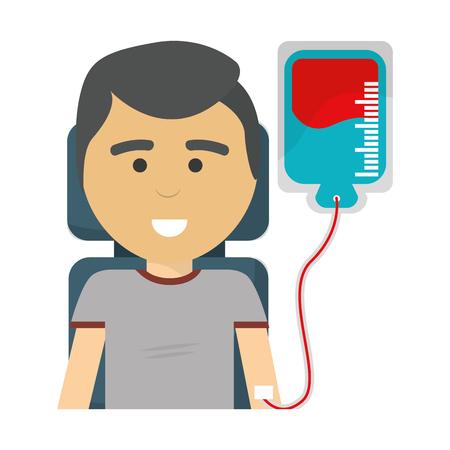Man donating blood icon Illustration