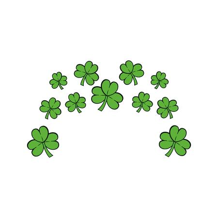 clovers: Clovers plant natural decoration Illustration
