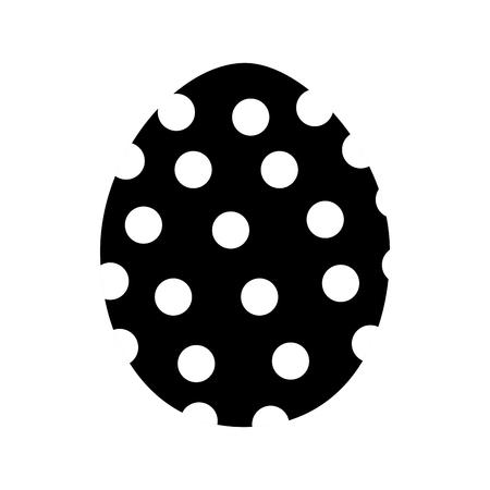 Black contour egg easter decoration design Illustration
