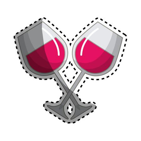 Glass of wine tasty liquor beverage