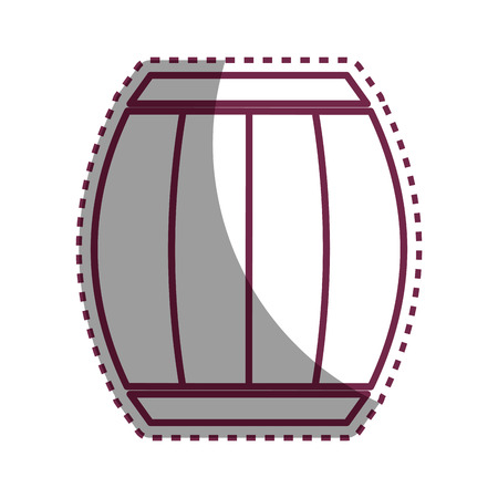 ferment: Sticker wool barrel traditional container icon