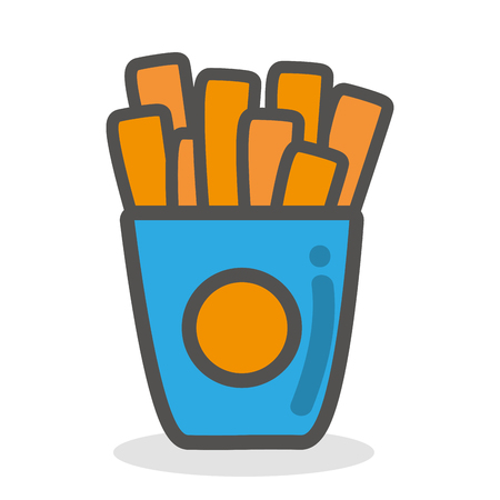 frites: French fries fast food icon