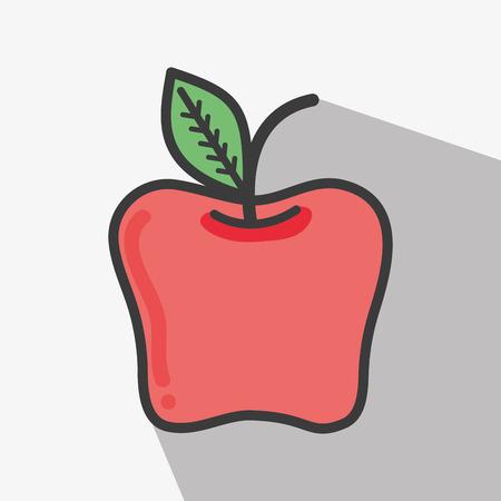Delicious apple tasty fruit icon Stock Vector - 77191373