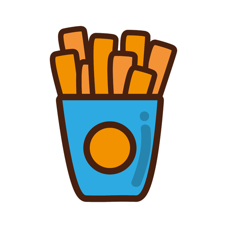 French fries fast food icon