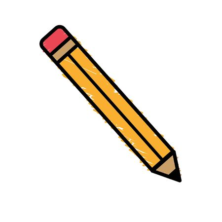 pencil tool to study in the school icon, vector illustration Illustration