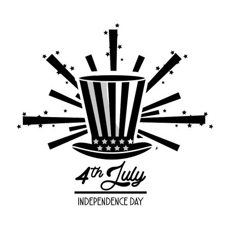 flag hat celebration independence day Illustration