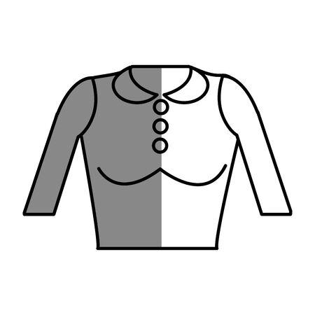 Línea agradable blusa estilo de tela Foto de archivo - 77229458