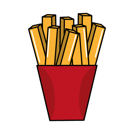 frites: fast food french fries meal Illustration