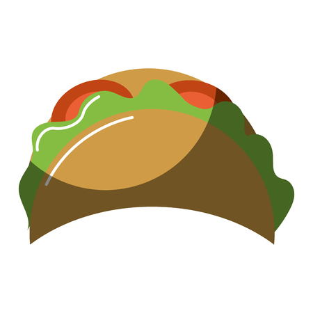 delicious mexican tacos food Illustration