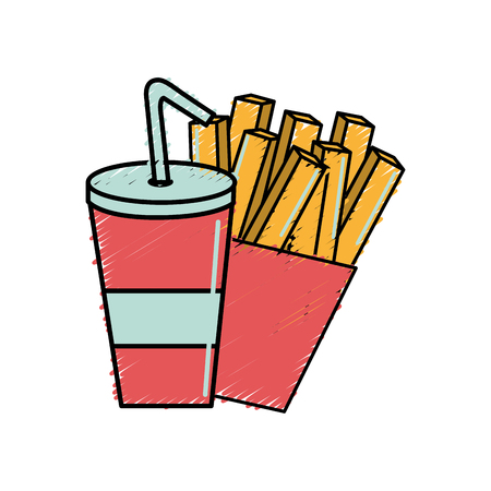frites: refreshing soda with tasty french fries