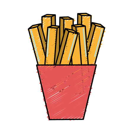 fast food french fries meal Illustration