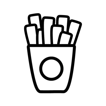 silhouette french fries fast food icon