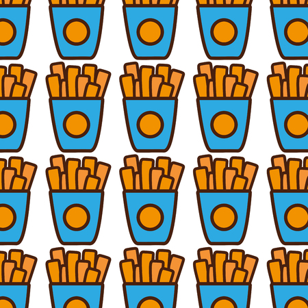 french fries fast food background