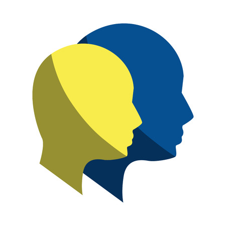silhouette human head man Illustration