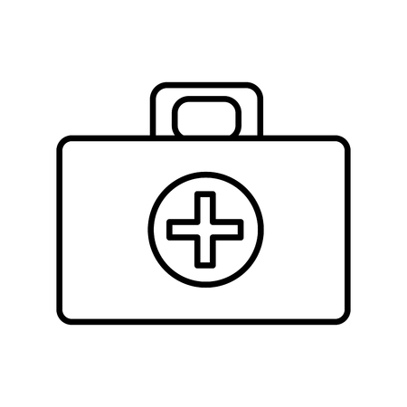firstaid: medical aid kit emergency care Illustration