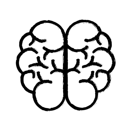 emotional stress: contour mental health smart brain icon
