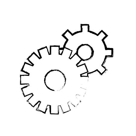 contour gears symbol process industry Illustration