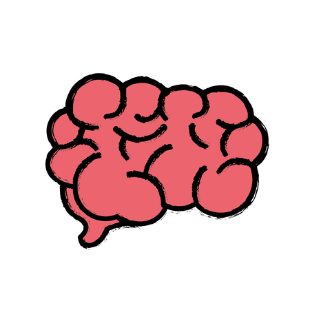 emotional stress: mental health smart brain icon