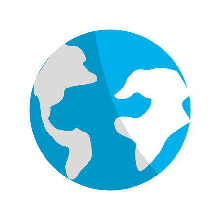 earth planet environment conservation icon Illustration
