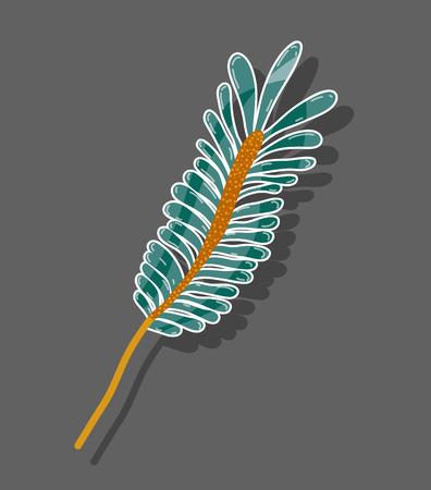 Leaf of natural plant herb botany.