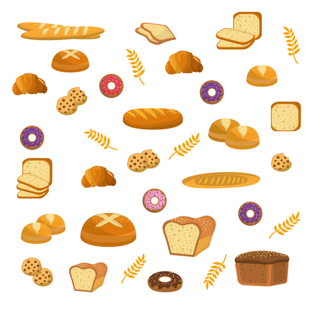 Delicious breads, donuts and cookies bakery.