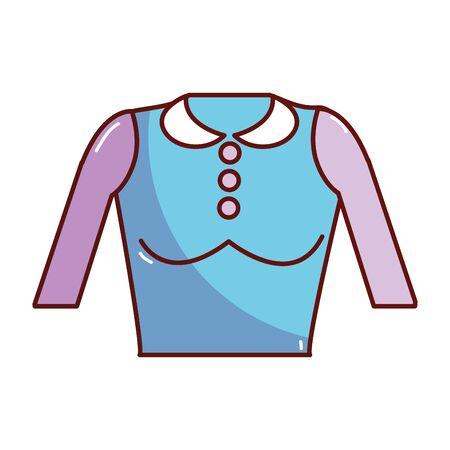 nice blouse cloth style Illustration