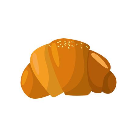 Delicious fresh bakery croissant bread. Illustration