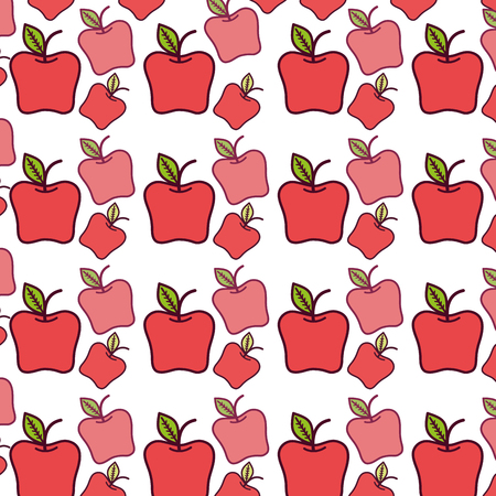 Red delicious fruit healthy fruit. Illustration