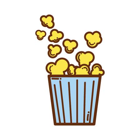 Popcorn food in the cinema movie eat. Illustration