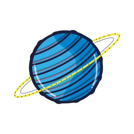 starfield: Uranus planet in the galaxy space.